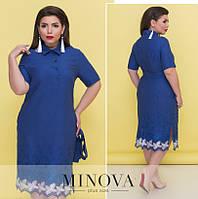 Платье от ТМ Minova большой размер Производитель Украина доставка в Россию СНГ р. 52,54,56
