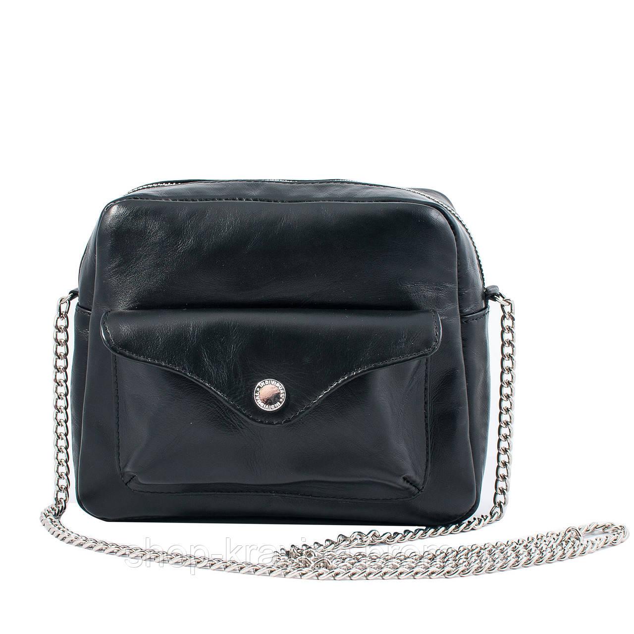 Кожаная сумка VS171  chain 20х16х6 см