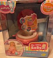 Детский интерактивный музыкальный горшок, унитаз для кукол Baby Born Беби Борн MZT8967 розовый, музыка