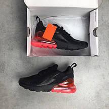 Мужские кроссовки Nike Air Max 270 Black Red, фото 3