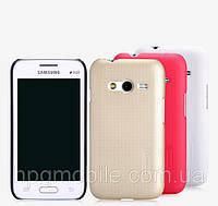 Чехол для Samsung Galaxy Ace 4 G313H - Nillkin Super Frosted Shield (пленка в комплекте)