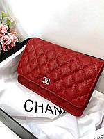 Мини-сумочка Chanel WOC бордо