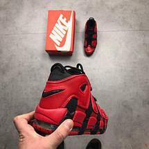 Мужские кроссовки Nike Air More Uptempo QS Black Red, фото 3