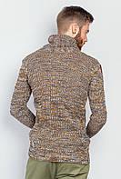 Свитер мужской реглан 383F001 (Сине-горчичный)
