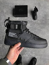 Кроссовки Nike Special Field Air Force 1 Mid Black 01, фото 2