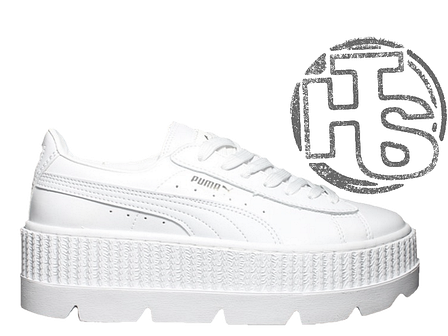 cc3feab63c790b Женские кроссовки Puma x Fenty by Rihanna Cleated Creeper White, фото 2