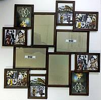 Деревянная эко мультирамка, коллаж #212 макси, венге, орех, белый, чёрный., фото 1