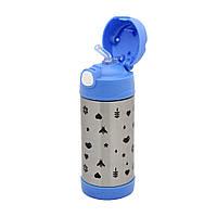 Питьевой термос Детский синий, 375 мл