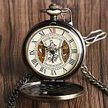 Часы механические карманные  Luxury Wood  Skeleton, фото 2