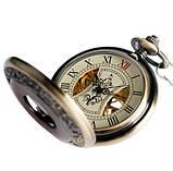 Часы механические карманные  Luxury Wood  Skeleton, фото 8