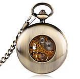 Часы механические карманные  Luxury Wood  Skeleton, фото 9