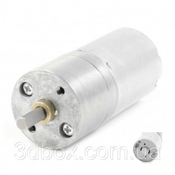 Мотор редуктор 12В 100 оборотов | Комплектующие для 3D – принтера, фото 1