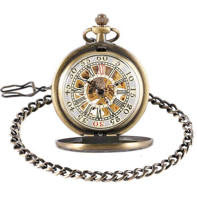 Часы механические карманные Bronze Mechanical Watch