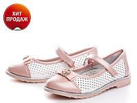 Модные белые туфельки для девочки р (27-32)