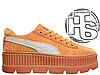 Женские кроссовки реплика Puma x Fenty by Rihanna Cleated Creeper Golden Brown 366268-02