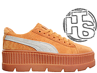 Женские кроссовки Puma x Fenty by Rihanna Cleated Creeper Golden Brown  366268-02 429ed2aa2ab03