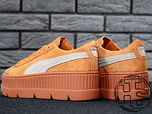 Женские кроссовки реплика Puma x Fenty by Rihanna Cleated Creeper Golden Brown 366268-02, фото 2