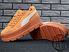 Женские кроссовки реплика Puma x Fenty by Rihanna Cleated Creeper Golden Brown 366268-02, фото 5