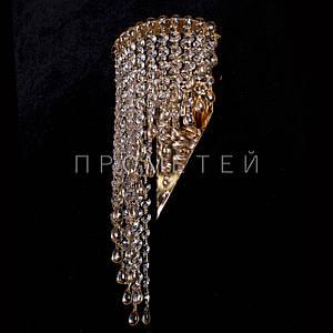 Хрустальная бра на 2 лампочки (золото) P5-B0133/2W/FG