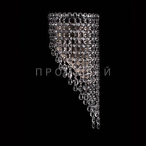 Хрустальная бра на 2 лампочки (античная бронза) P5-B0134/2W/AB