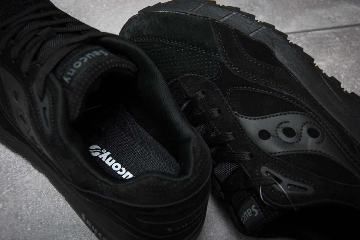 ... Кроссовки мужские Saucony Shadow копия (черные) натуральная замша, ... d99b1aea577