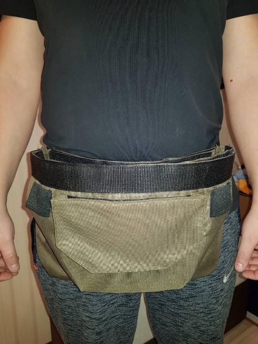 Карповая сумка - бойловая, сумка на пояс для бойлов, для закорма рогаткой или коброй