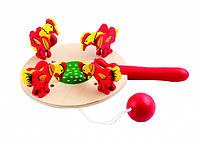 Детская деревянная игрушка Курочки и зернышки