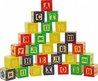 Деревянные кубики с буквами 28 штук, фото 1
