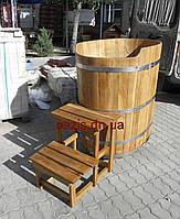 Купель овальная для бани и сауны 120х80х120см