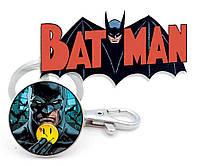Брелок с изображением Бэтмена со смайликом Batman DC комиксы