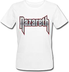 Женская футболка Nazareth - Logo (белая)
