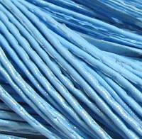 Шнур кожзам, голубой