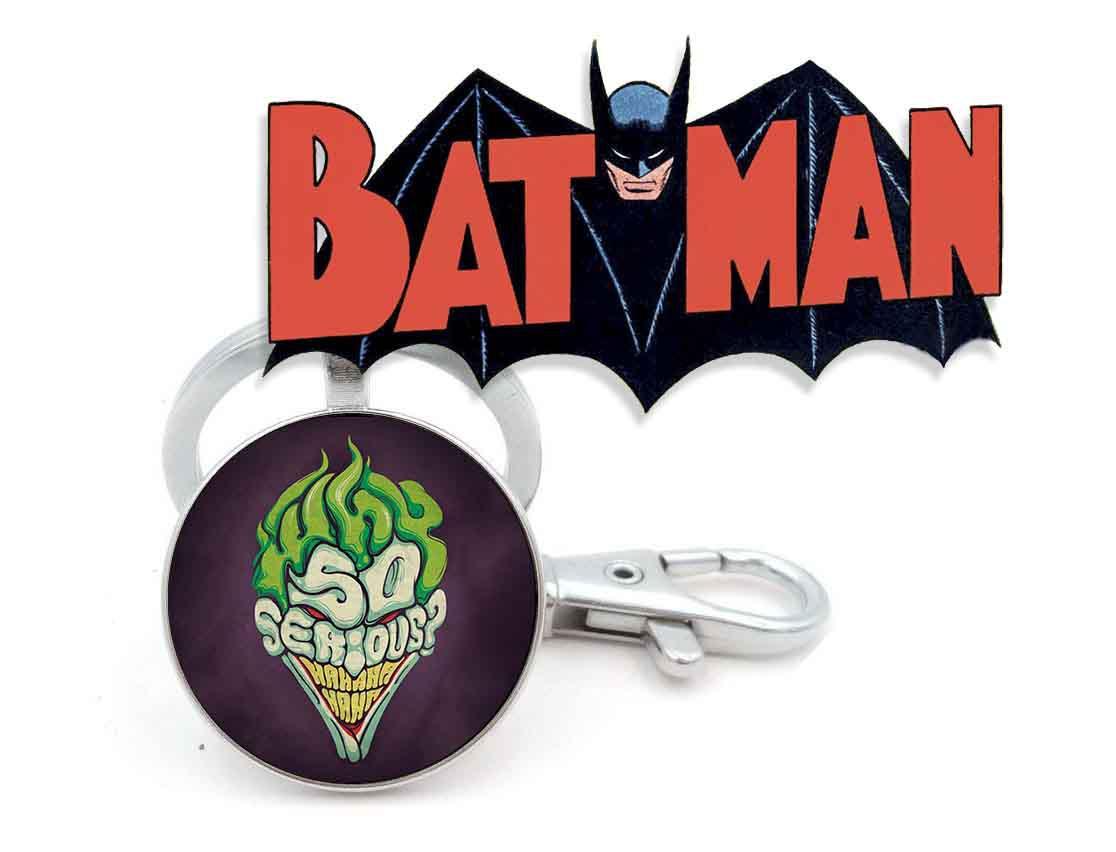 Брелок Джокер why so serious Бэтмен Batman DC комиксы