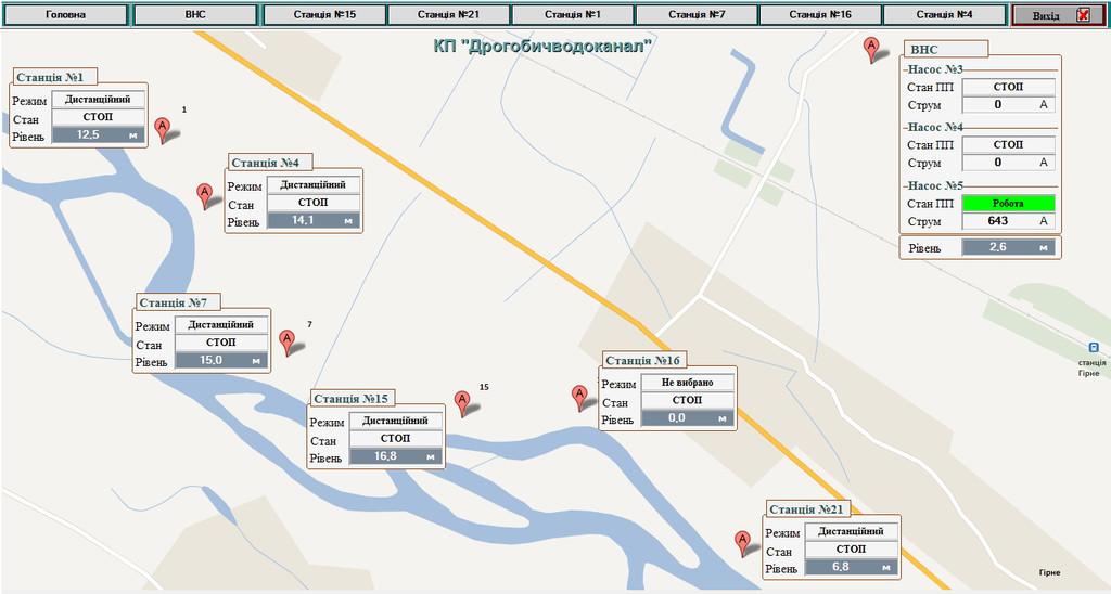 Географическая план-карта района водозабора