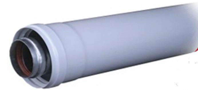 Коаксиальный удлинитель дымохода для турбо котлов (ф 60/100)  1 метр. - ТЕХБАЗА в Черновцах