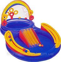 Детский надувной игровой центр «Радуга» Intex 57453 (297х193х135 см.)