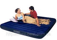 Двуспальный надувной матрас Intex 68755 (183х203х22 см.)