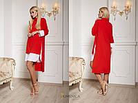 Ассиметричное платье с имитацией двойки свободного кроя в расцветках (от 42 до 52 размера) 16847PL, фото 1