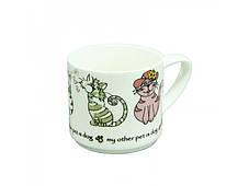Керамическая чашка Греческий кот, 360 мл, фото 2
