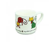 Керамическая чашка Греческий кот, 360 мл, фото 3