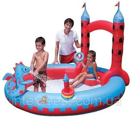 """Детский надувной бассейн """"Замок Дракона"""" Bestway 53037 (221х193х150 см.)"""