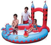 """Детский надувной бассейн """"Замок Дракона"""" Bestway 53037 (221х193х150 см.), фото 1"""