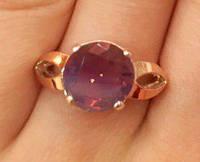 Кольцо серебряное с золотыми накладками Джоан с турмалином