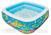 """Детский надувной бассейн """"Аквариум"""" Intex 57471 (159x159x50 см)"""