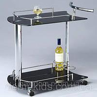 Сервировочный столик SC-5066-BG на колесиках., фото 1