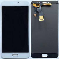 Дисплей (экран) для Meizu M3 Note с сенсором/тачскрином (модуль) белый (ВЕРСИЯ L681h)