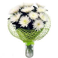 Хризантема белая в букете 9шт