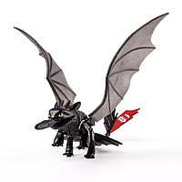 Дракон Беззубик ночная фурия  светящийся Как приручить дракона Spin Master