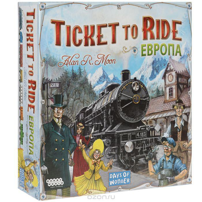 Настольная игра Ticket to Ride Европа