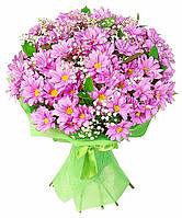 Хризантема розовая в букете 9шт